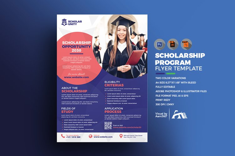 Scholarship Flyer example image 1