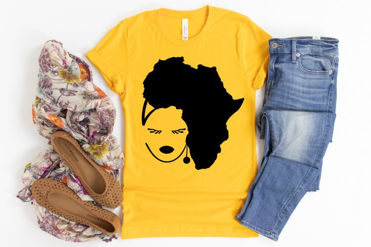 Black Woman SVG, Afro Lady SVG files for Cricut, Black Girl example image 1