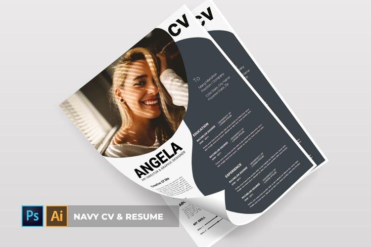 Navy | CV & Resume example image 1