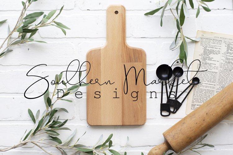 Bamboo Ikea Cutting Board Real Wood Mock Up example image 1