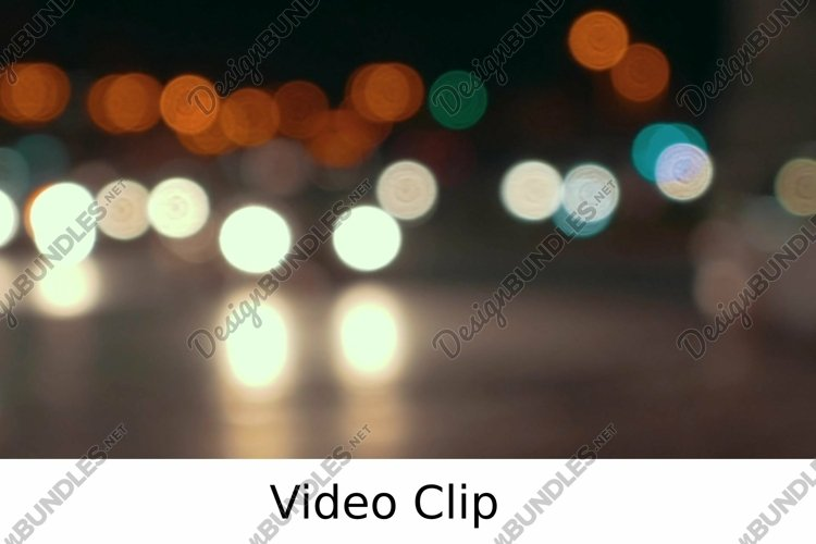Video: Defocus of city traffic at night example image 1