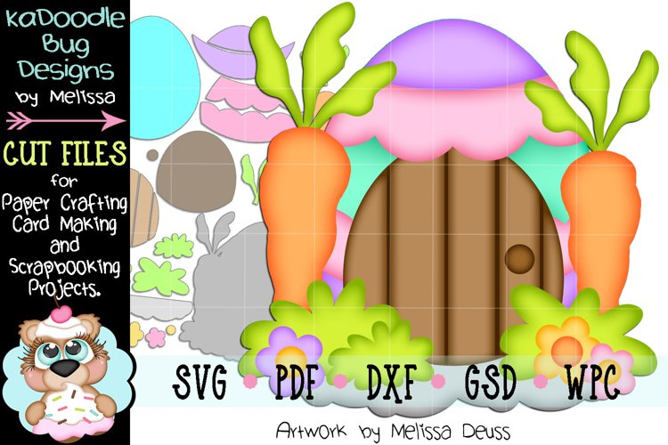 Easter Egg House Cut File - SVG PDF DXF GSD WPC