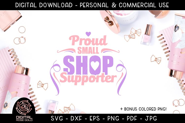 Proud Small Shop Supporter - Shop Small SVG