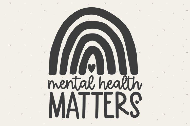 Mental Health Matters SVG FILE