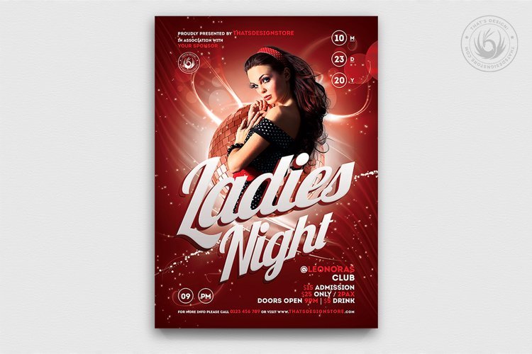 Ladies Night Flyer template V1