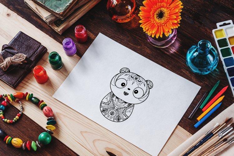 Panda Mandala Coloring Pages