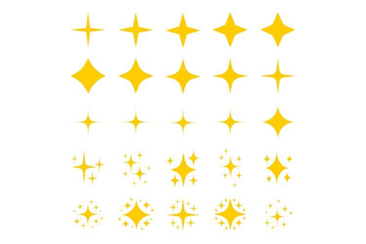 Gold stars sparkle glitter symbols