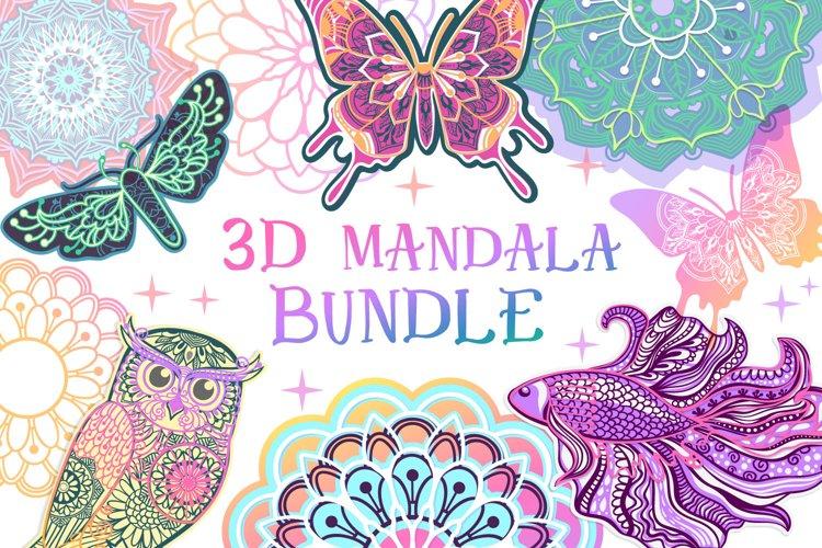 3D Mandala Bundle | 3D Papercut SVG