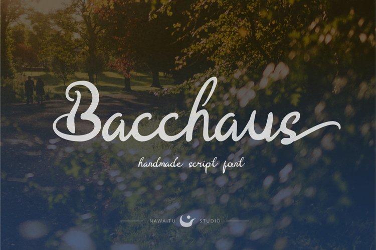 Bacchaus font - Script Fonts