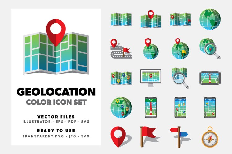 Geolocation Color Icons