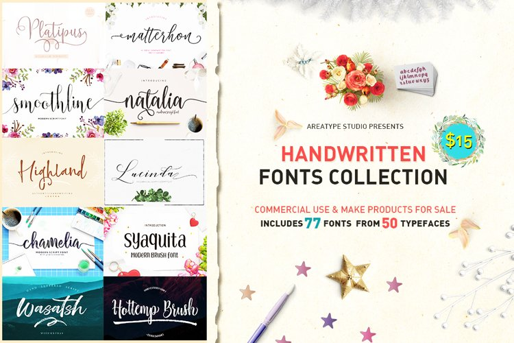 Handwritten Fonts Collection example image 1