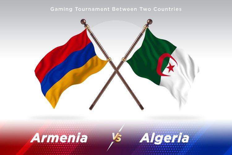 Armenia vs Algeria Two Flags example image 1
