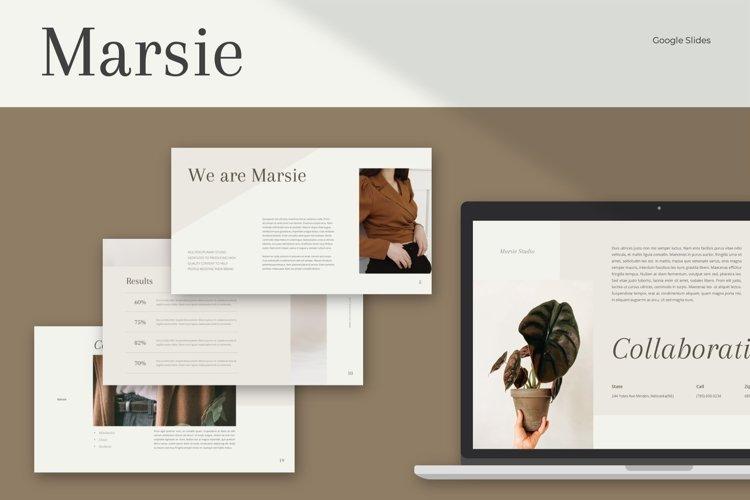 MARSIE Google Slides Template example image 1