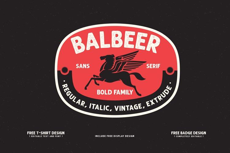 BALBEER FONT FAMILY BONUS example image 1