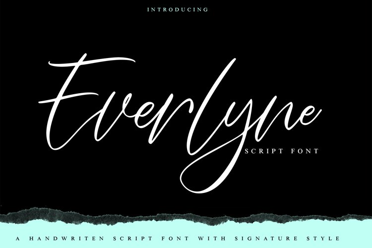 Everlyne | Script Font example image 1