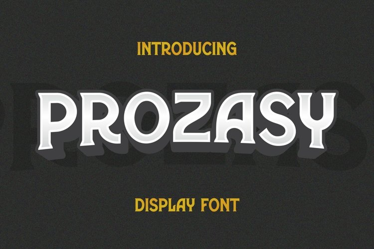 Web Font Prozasy Font example image 1