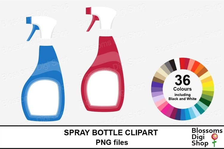 Spray Bottle Clipart example image 1