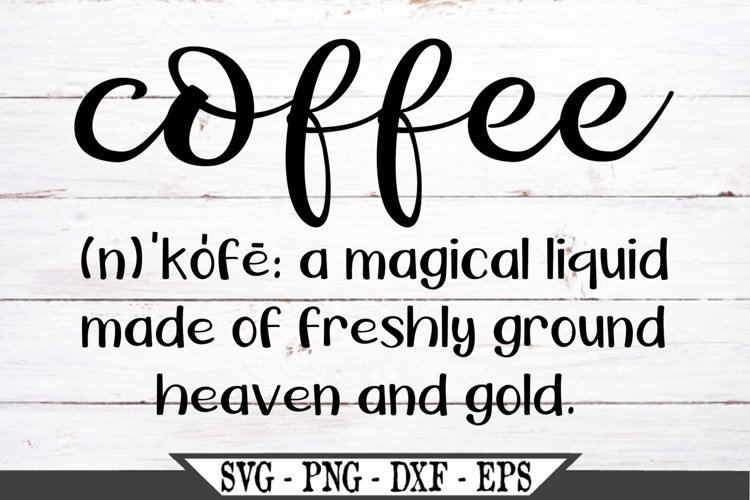 Coffee Definition SVG example image 1
