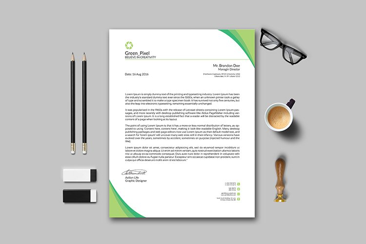 Professional Letterhead Template example image 1