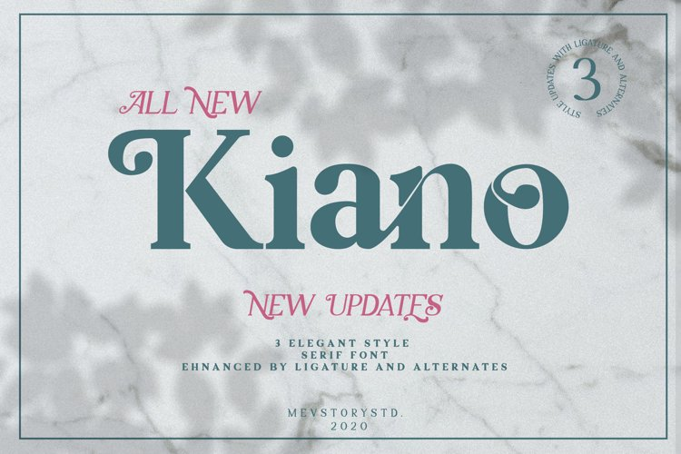 Kiano 3 Fonts Update example image 1