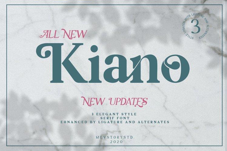 Kiano 3 Fonts Update