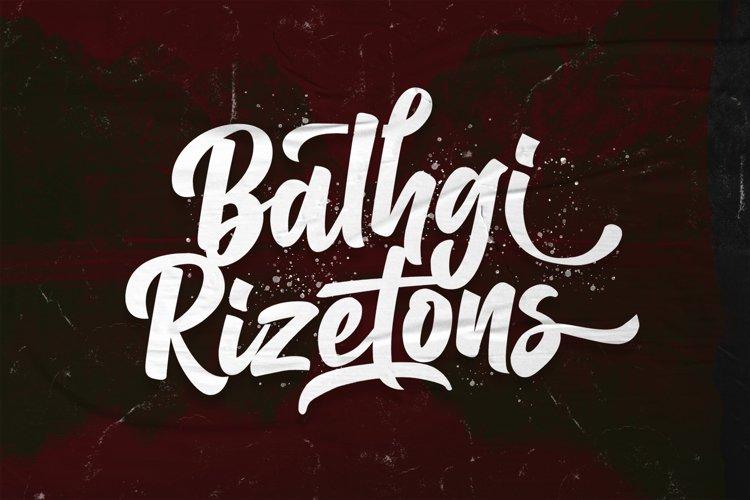 Balhgi Rizetons - Bold Script Font example image 1