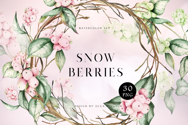 Watercolor winter flowers clipart christmas wreath png
