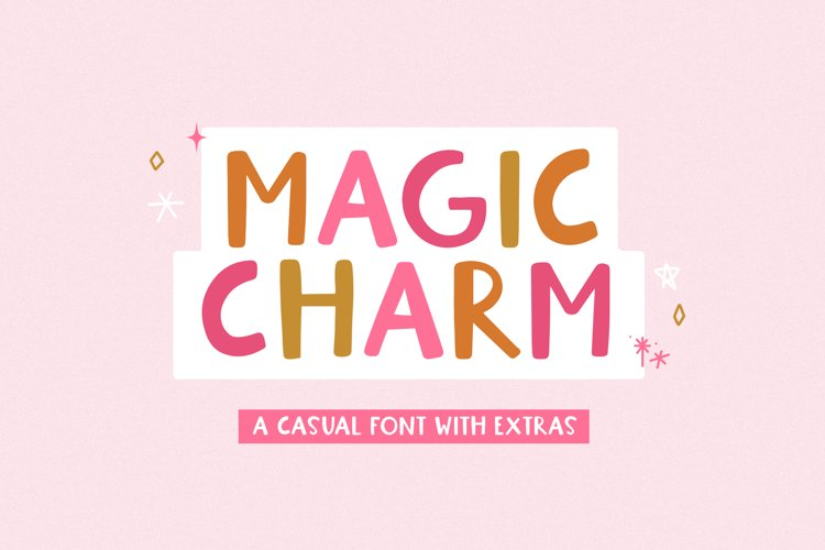 Magic Charm - A Fun Handwritten Font with Doodles example image 1