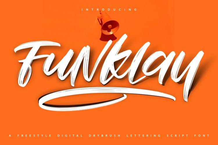 Funklay | Drybrush Lettering Script Font