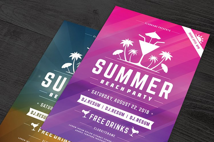 Summer Beach Party Flyer Template example image 1