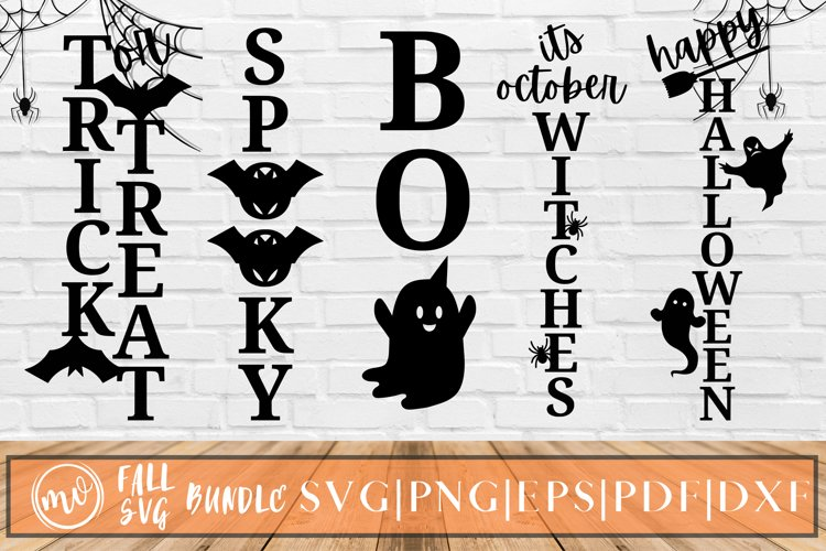 Halloween Porch Sign Bundle - 5 example image 1