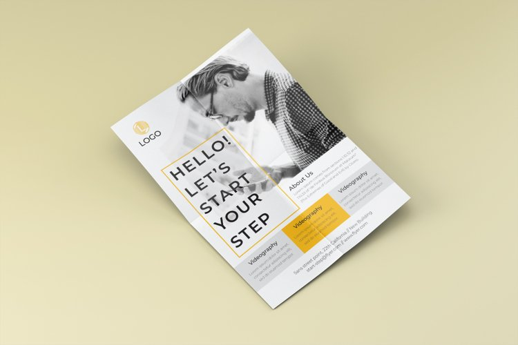 Step promotion flyer template example image 1
