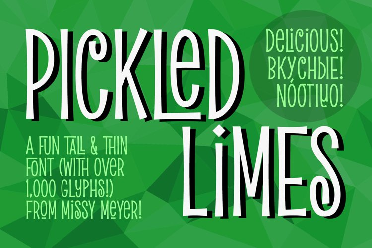 Pickled Limes - a quirky tall & thin font! example image 1