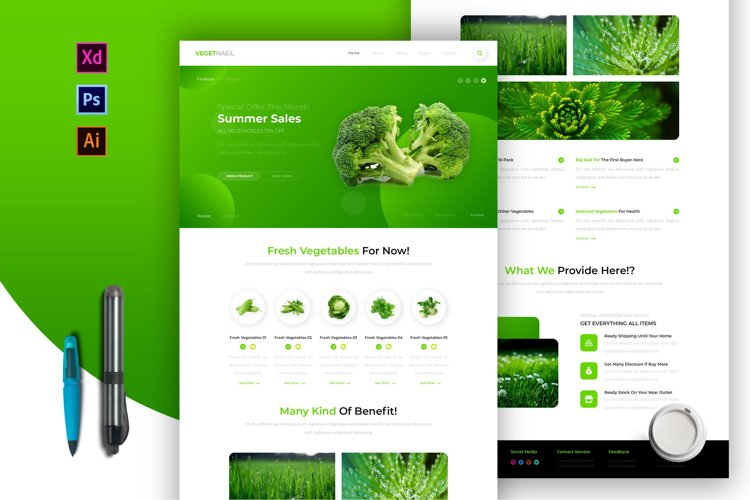 Vegetneil | Email Newsletter Template example image 1