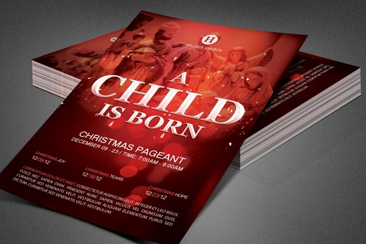 A Child is Born Church Flyer Template example image 1
