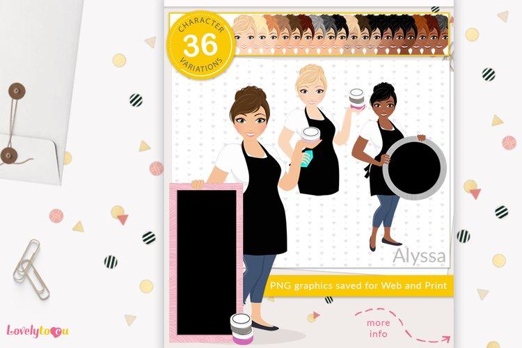 Chalk art woman character clipart LVC48 Alyssa example image 1