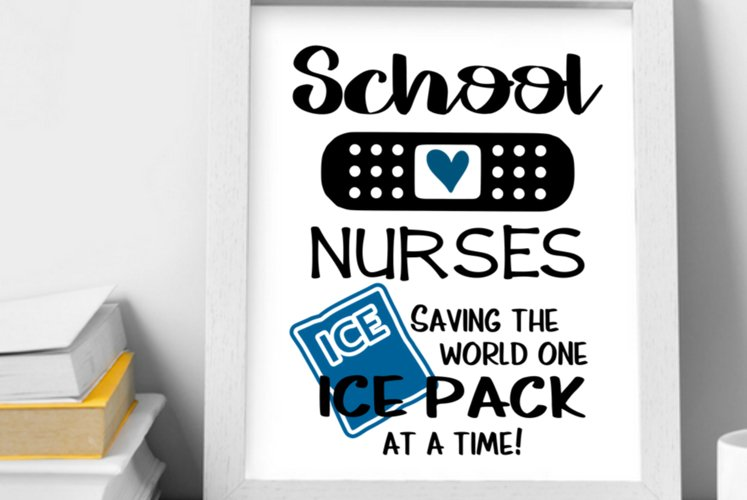 School nurse wall art printable, School nurses print gift