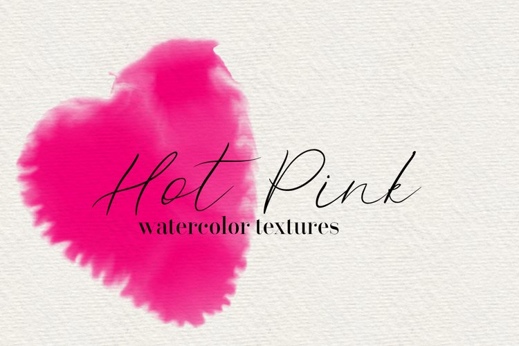 Hot Pink - 45 Watercolor Textures example image 1