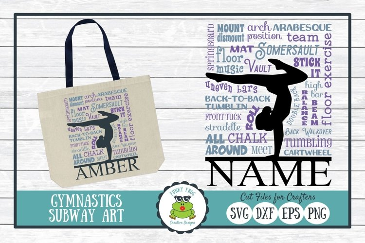 Gymnastics Subway Art SVG Cut File for Crafters