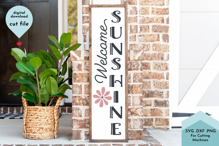 Hello Summer SVG, Vertical Sign, Front Porch, Sunshine example