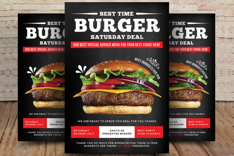 Classic Burger Flyer example image 1