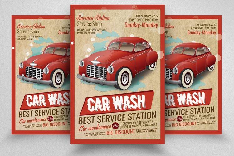Car Wash Service Station Flyer example image 1
