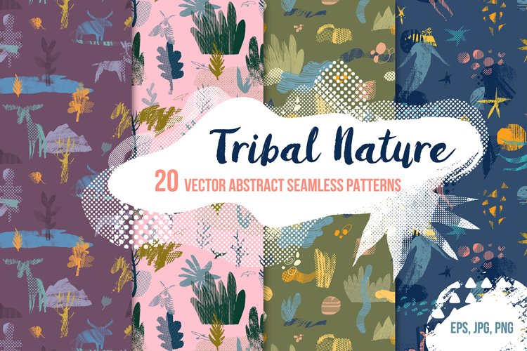 TRIBAL NATURE. 20 VECTOR PATTERNS