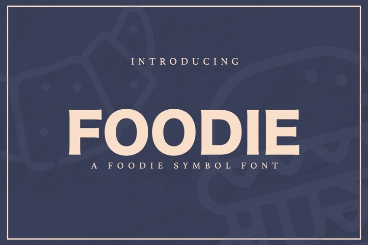 Web Font FOODIE example image 1