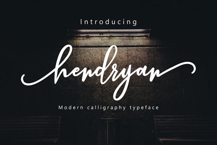 Hendryan Script example image 1