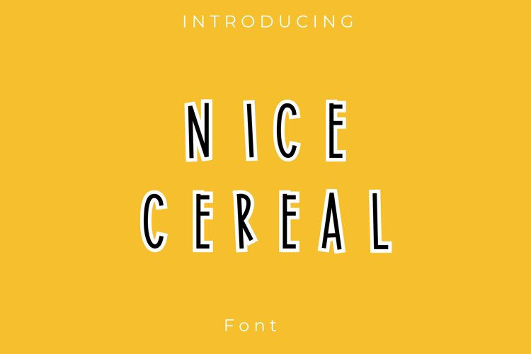 Nice Cereal font example image 1