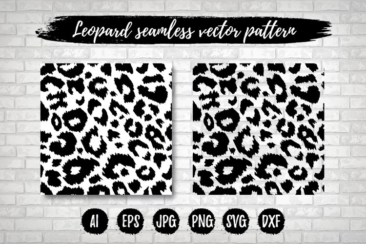 Leopard Print Seamless Pattern Repeat Animal Vector Texture example image 1