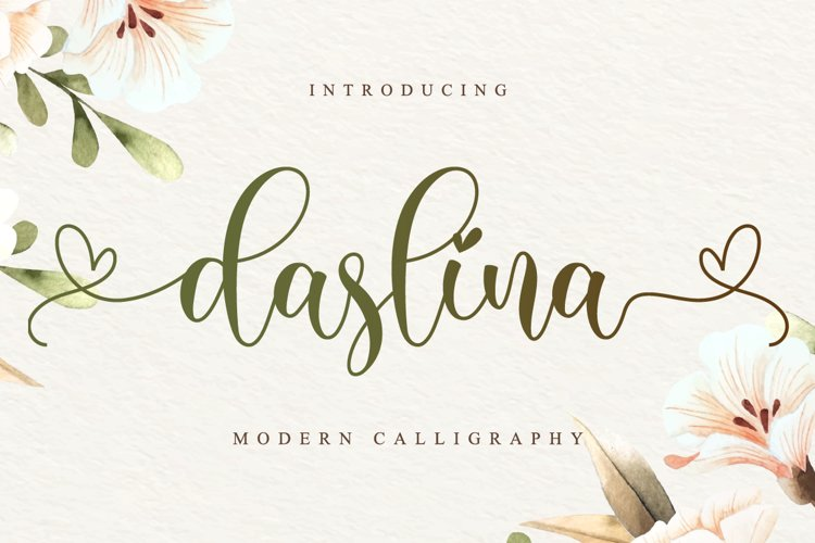 Daslina - Lovely Font Script example image 1
