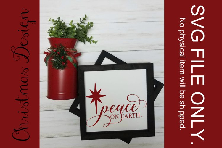 Peace on Earth SVG FILE example image 1