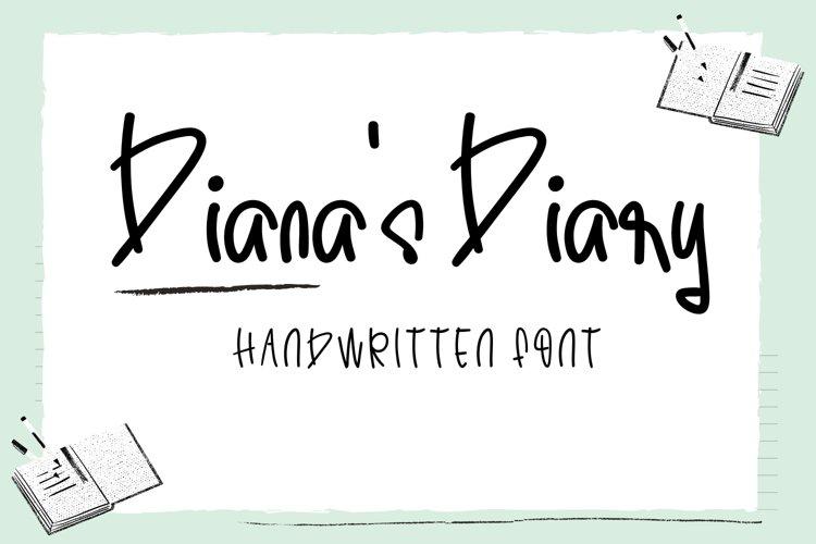 Diana's Diary-Cute Handwritten Font example image 1